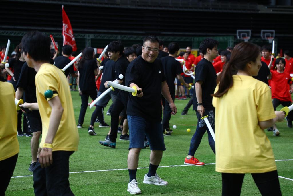 社内運動会・バンナム大運動会:チャンバラ合戦